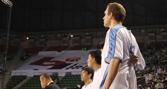 試合前の京都の選手達